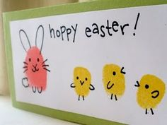 Thumbprint Easter cards, easy and fun for the kids to make!