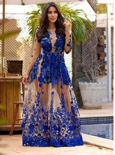 prom dresses, lace evening dresses, royal blue appliques long sleeves prom party gowns, fancy royal blue prom dresses, vestidos, prom dresses 2017