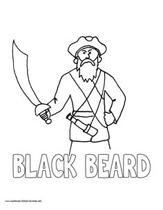 world history coloring pages printables black beard the pirate