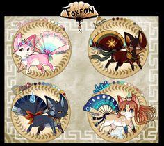 Greek Myths Foxfans// AUCTION // CLOSED by Belliko-art.deviantart.com on @DeviantArt