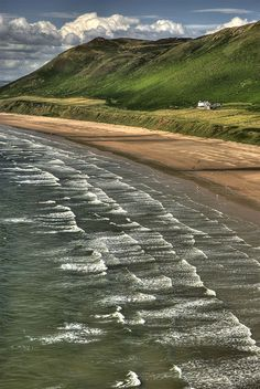The beach at Rhossili Bay (NT) Gower Peninsula, South Wales Shared by Motorcycle Fairings - Motocc Cornwall, Rhossili Bay, Swansea Bay, Gower Peninsula, South Wales, Wales Uk, Uk Beaches, Cardiff Wales, Brecon Beacons