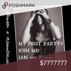  MY FIRST PARTY!!! I'm co-hosting my first party! Please join me on Sunday, January 21st @ 12pm PST (3pm EST) for some fabulous jewelry and accessories! Vintage Jewelry