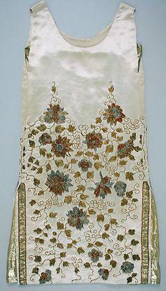 Worth - Robe de Soirée 'Traine' - Soie, Perles et Fils Métalliques - 1925