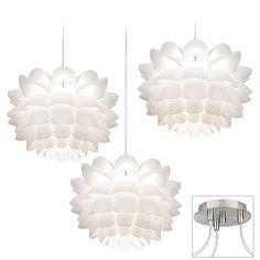 Possini Euro White Flower Triple Light Swag Chandelier - #EUX9880-13022 - Euro Style Lighting