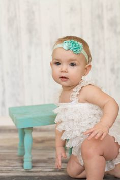 U CHOOSE Baby Headband flower headband by BabyBloomzBoutique