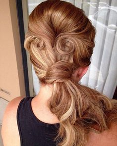 Vintage Ponytail With Bouffant And Pin Curls Retro Ponytail, Vintage Ponytail, French Braid Ponytail, Twist Ponytail, Ponytail Updo, Messy Braids, Side Ponytail Hairstyles, Side Ponytails, Vintage Hairstyles For Long Hair