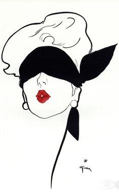 Illustration by René Gruau, 1948 ('Le Rouge Baiser').
