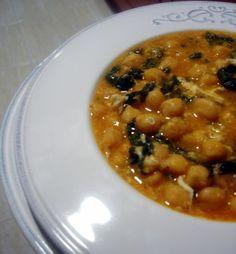 Potaje de garbanzos y espinacas tradicional de cuaresma - El Aderezo - Blog de Recetas de Cocina