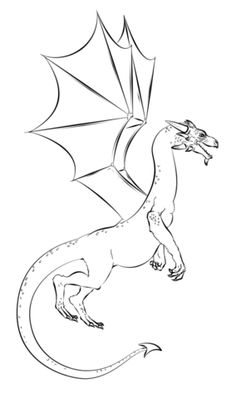 Realistic Dragon Coloring page