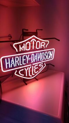 Harley - Davidson motor cycles Neon commercial sign