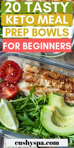 These keto meal prep bowls are great for beginners. If you need start keto meal planning, these low carb dishes will give you some ideas on how you can do it. Keto How to start a keto diet – Are you ready to go keto? Ketogenic Diet Meal Plan, Ketogenic Diet For Beginners, Ketogenic Recipes, Diet Recipes, Healthy Recipes, Meal Prep Keto, Easy Recipes, Diet Menu, Meal Planning Recipes
