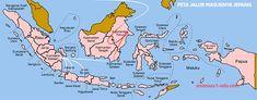 Map of the provinces of Indonesia Strait Of Malacca, Komodo National Park, Belitung, Komodo Island, West Papua, Island Map, East Indies, Lombok, Borneo