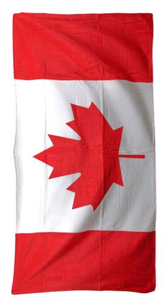 Canadian Flag Beach Towel 30-inches x 60-inches, TWXCA