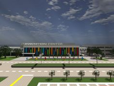 Awesome Convention Center design! Have used a smaller-scale design for one of my village libraries.