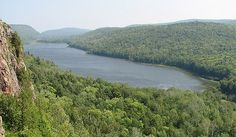 Lake of the Clouds in Porcupine Mountains State Park near Ontonagon, MI