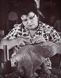 Amanda Crowe (1928–2004) was an Eastern Band Cherokee woodcarver and educator from Cherokee, North Carolina.