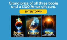 Enter to win a $100 Amex gift card and an autographed set of The Darracia Saga, by Michael Phillip Cash!