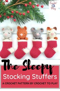 On Red Ted Art we have this adorable set of crochet ornaments - make these as individual crochet stocking ornaments or as a stocking advent calendar! So cute and easy! Crochet Christmas Stocking Pattern, Crochet Stocking, Crochet Christmas Decorations, Crochet Ornaments, Stocking Ornaments, Christmas Ideas, Christmas Crafts, Christmas Tree, Christmas Ornaments