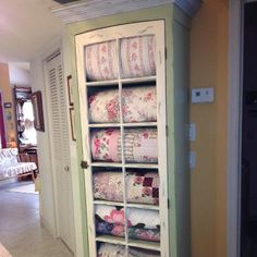 My Husband Built This Quilt Cabinet With Help From Son