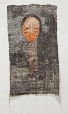 Stunning textile art by Korean artist Yoon Ji Seon. Textile Fiber Art, Textile Artists, Kunst Online, Contemporary Embroidery, Embroidery Art, Fabric Art, Asian Art, Needlework, Art Projects