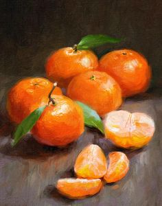 Tangerines by Robert Papp - Tangerines Painting - Tangerines Fine Art Prints and Posters for Sale