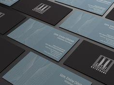 Minimal dark business cards