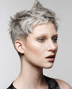 Gray Pixie Haircut