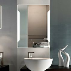 HEYNEMO Three Color LED Lighted Bathroom Wall-Mounted Vanity Mirror, Anti-Fog Dimmable One Touch Control Waterproof Bathroom Wall Mirror Makeup Mirror Illuminated Mirror for Home Multipurpose Wall Mounted Makeup Mirror, Lighted Vanity Mirror, Makeup Mirror With Lights, Led Mirror, Best Bathroom Vanities, Bathroom Wall, Illuminated Mirrors, Dressing Mirror, Modern Vanity