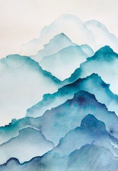 Wednesday watercolor techniques lesson - mountains in watercolor from .-Mittwoch Aquarell Techniken Lektion – Berge im Aquarell von Christine Neveaux … Wednesday watercolor techniques lesson – mountains in watercolor by Christine Neveaux – - Watercolor Art Lessons, Watercolor Techniques, Watercolour Painting, Watercolor Basic, Watercolor Ideas, Watercolor Design, Painting Techniques, Body Painting, Abstract Watercolor Tutorial