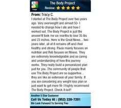 I started at The Body Project over two y