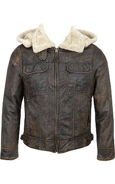 Details about Men's Wilsons Vintage Leather Bomber Jacket w/Faux ...