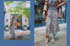 Layered floral autumn outfit for LFW SS18 | SweetChiliFashion