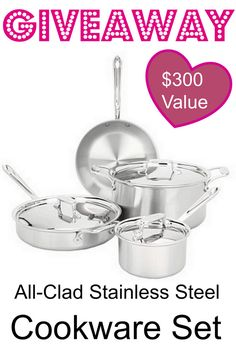 MOMMYPOTAMUS GIVEAWAY: All-Clad Stainless Steel Cookware Set ($300 Value) - The Mommypotamus