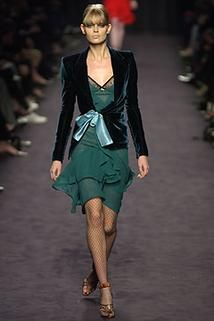 Yves Saint Laurent fall 2003 ready to wear collection. See more: #YvesSaintLaurentAtFip, #FashionInPics