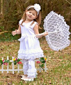 Look at this Dress Up Dreams Boutique White Ruffle Dress Set - Toddler & Girls on today! Baby Girl Princess, Little Princess, Princess Outfits, Girl Outfits, White Ruffle Dress, Glam Girl, Everything Baby, Cute Babies, Dress Set