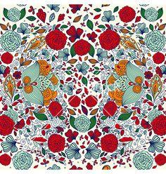 Floral background vector - by MoleskoStudio on VectorStock®