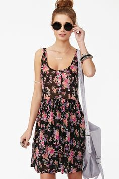 -love the flower print dress, pair it with jeans vest or sheer cover up…