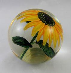 Lundberg, Steven Glass Art Sunflower Paperweight