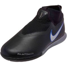 the latest 7ebcf 2ea02 Nike Phantom Vision Academy DF IC – Youth – Black/Metallic Silver/Racer Blue