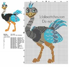 Merc from Disney Miles from Tomorrowland cross stitch pattern