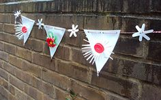 Spring Bunting 36 inch long /09m by KraalD on Etsy, $20.00