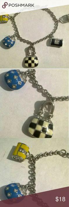 PD premier designs charm bracelet purse charms Beautiful PD purse charms bracelet Premier Designs Jewelry Bracelets
