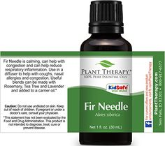 Plant Therapy Fir Needle Essential Oil. 100% Pure, Undiluted, Therapeutic Grade. 30 ml (1 oz).