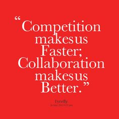 How to annihilate the spirit of competition and create a culture of collaboration.=> http://www.sarahrobbins.com/collaboration-versus-competition/