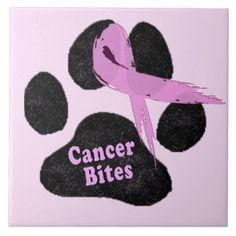 cancer_bites_breast_cancer ribbon and dog paw silver finish lapel pin - pink gifts style ideas cyo unique Breast Cancer Quotes, Breast Cancer Tattoos, Breast Cancer Survivor, Breast Cancer Awareness, Breast Cancer Fundraiser, Cancer Support, Pink Gifts, Animaux