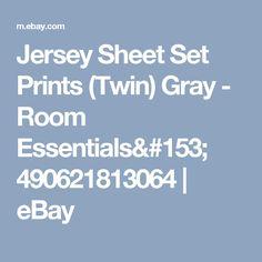 Jersey Sheet Set Prints (Twin) Gray - Room Essentials™ 490621813064 | eBay