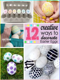 12 Creative Ways to Decorate Easter Eggs from thegirlcreative.com #easter #eastereggs