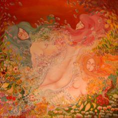 Zanele din miazanoapte – pictura pe panza #art #Painting #creative