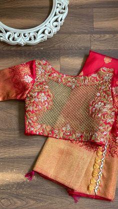 "@intishbychintya shared a video on Instagram: ""❤️The red stunner❤️ #intishbychintya #bridalblouse #embroidered #blousedesigns #saree #indianweddings #designer #reelindia #reels…"" • Sep 7, 2021 at 2:47pm UTC Blouse Designs, Saree, Bridal, Instagram, Tops, Women, Fashion, Moda, Fashion Styles"
