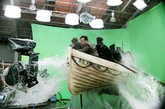 On the set of King Kong, directed by Peter Jackson, 2005.